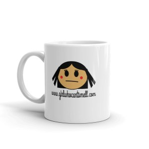 Girl Who Cant Smell Coffee Mug