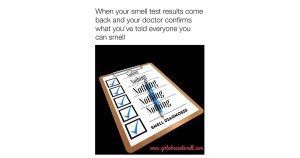 Girl Who Can't Smell Anosmia Smell Test Meme for Facebook