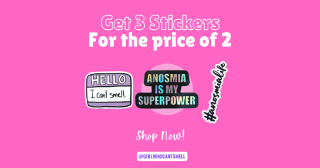 Anosmia Sticker Pack Get 3 Stickers For the Price of 2 For Sale