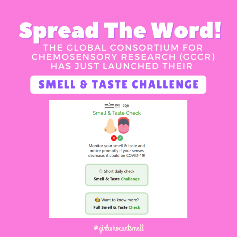 Spread the word about The Global Consortium For Chemosensory ResearchSmell and Taste Challenge