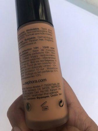 Anosmia Make Up Tips PAO label foundation