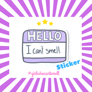 Hello I Cant Smell Sticker For Sale on Etsy