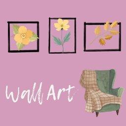 Girl Who Loves Pink! Wallart
