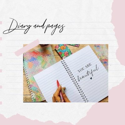 diary and pages