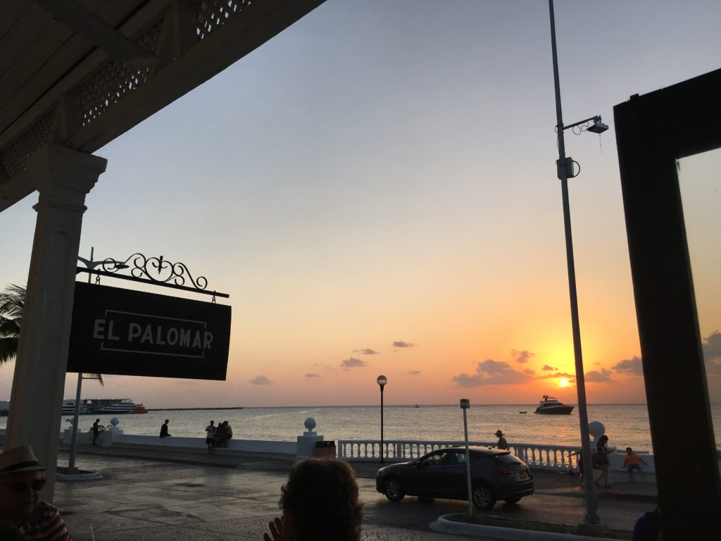 Best Cozumel Sunsets, Sunset at El Palomar, Girl Who Travels the World