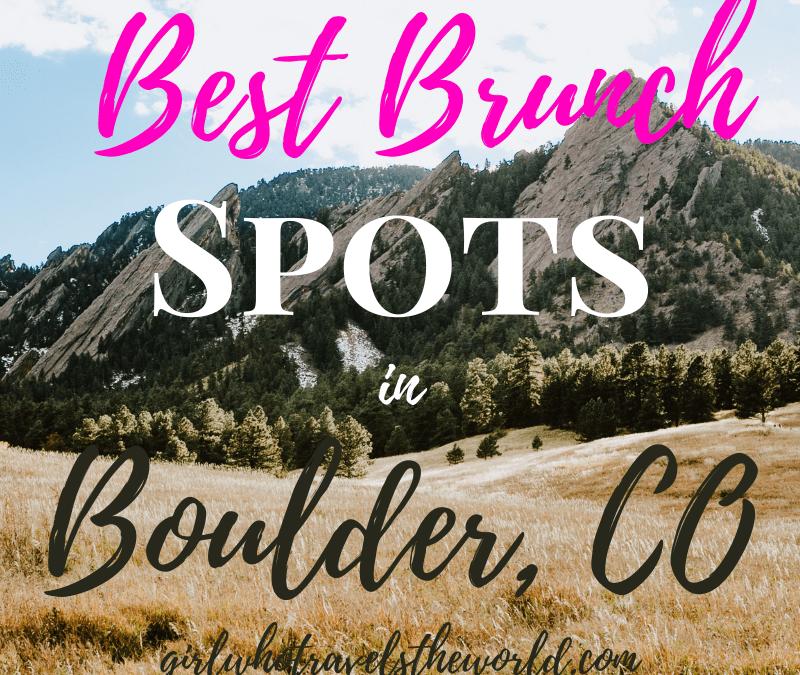 Best Brunch Spots in Boulder, Colorado
