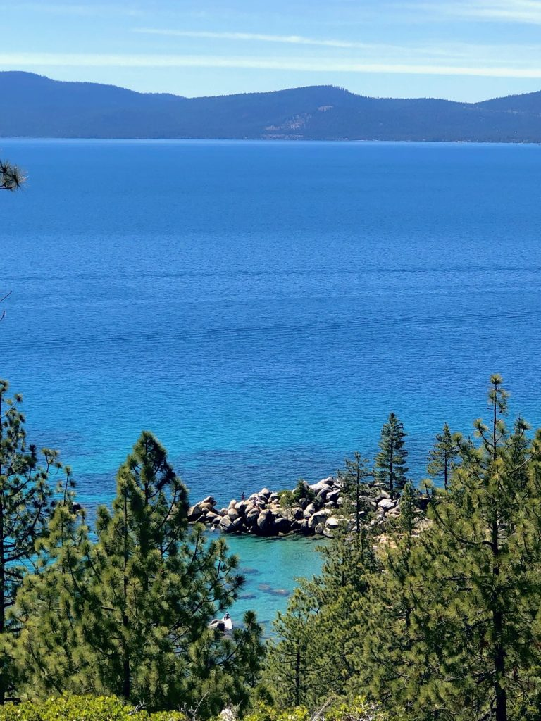 Best Scenic Spots on Drive Around Lake Tahoe, Girl WHo Travels the World, Secret Cove