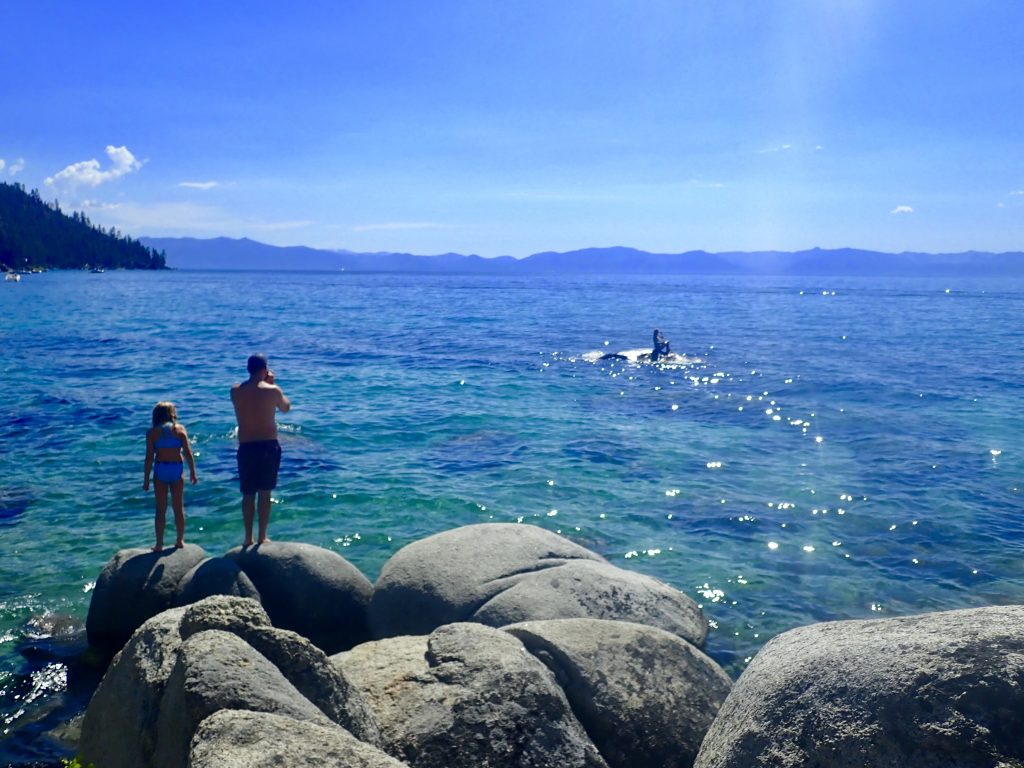 Best Scenic Spots on Drive Around Lake Tahoe, Girl Who Travels the World, Sand Harbor