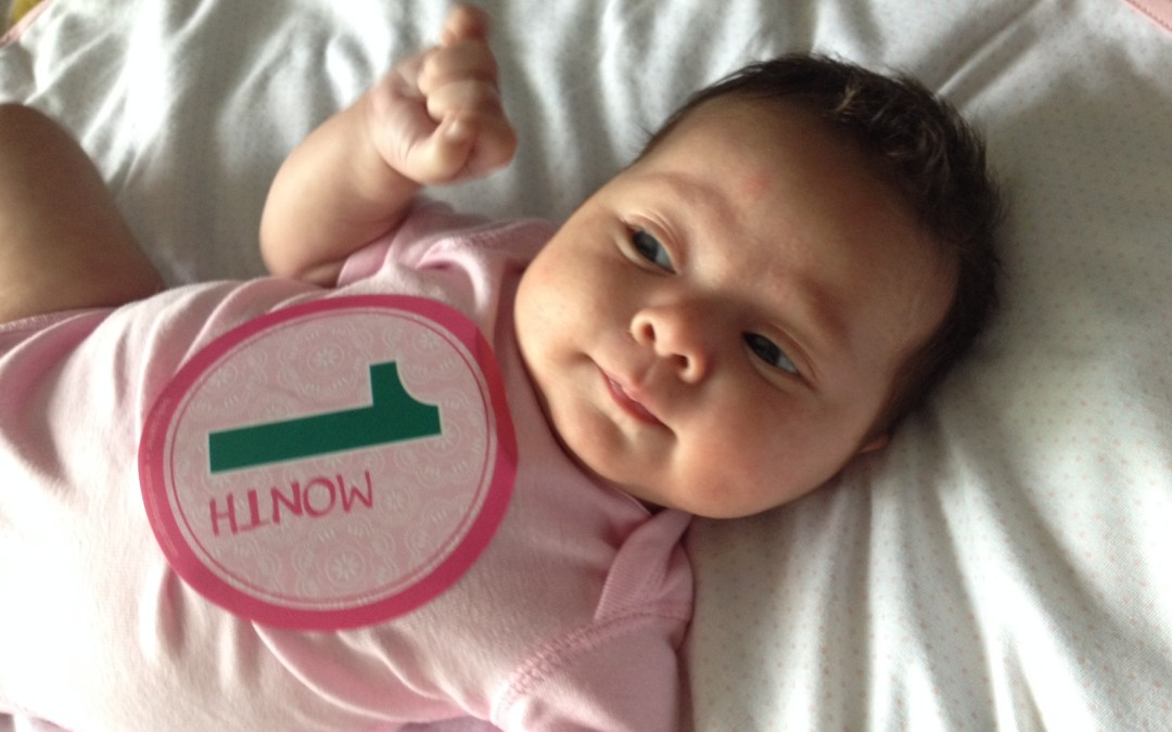 on my Josie girl at One Month