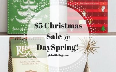 $5 DaySpring Christmas Sale!