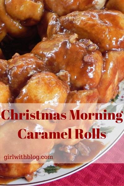 Christmas Morning Caramel Rolls // girlwithblog.com