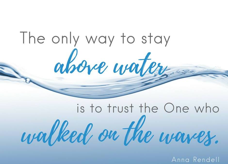 The Only Way to Stay Above Water