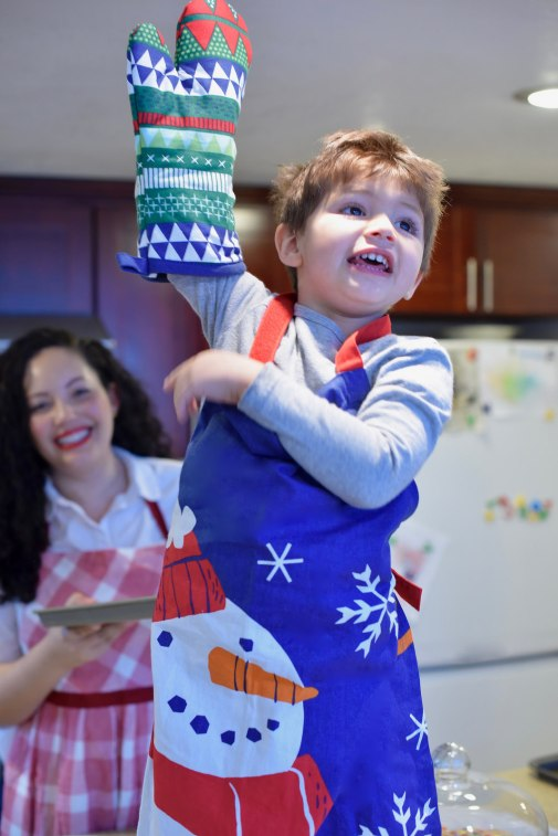 Girl With Curves blogger Tanesha Awasthi shares her fave weekend activity, baking with her son.
