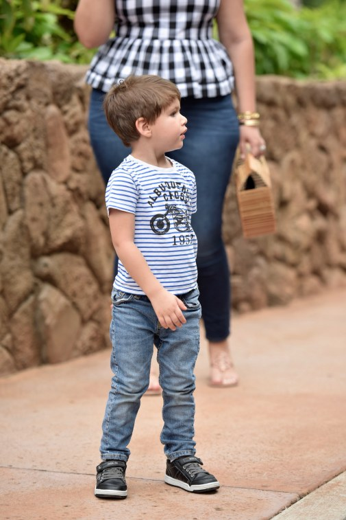 Girl With Curves blogger Tanesha Awasthi's son Narayan in Hawaii.