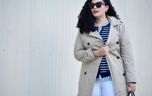 Girl with Curves featuring Celine sunglasses, Cardigan and Coat from Old Navy