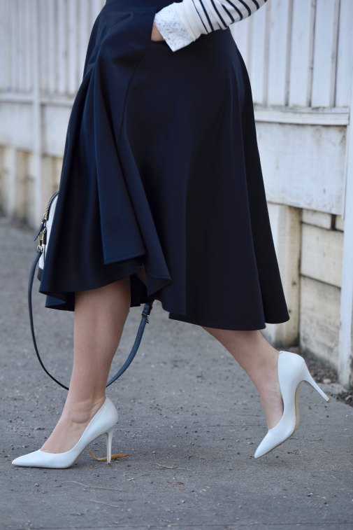 Girl with Curves featuring a Skirt from Asos, shoes from Charles David, and bag from Kate Spade