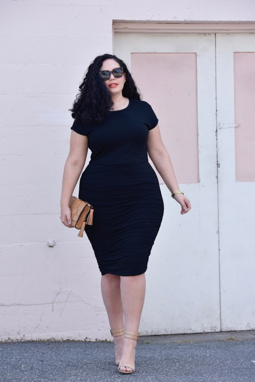 Little Black Dress you need for Summer, part t-shirt, part body con via @GirlWithCurves