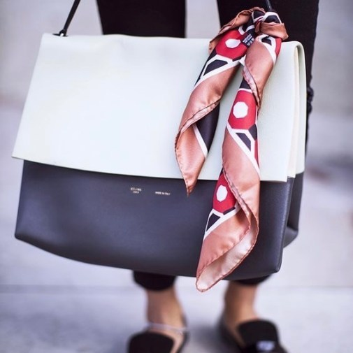 4 Ways To Style A Scarf This Season including on your bag  via @GirlWithCurves