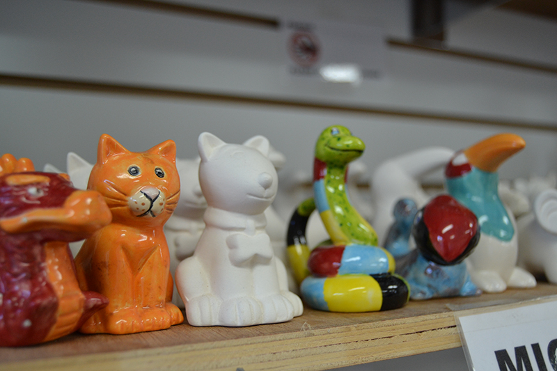 Paint Your Own Pottery - pottery selection