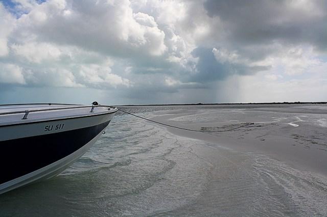 Bahamas Discovery Quest - boat on sandbar
