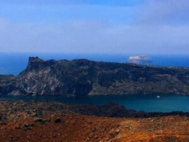 One of the Santorini sites to explore is the volcano.