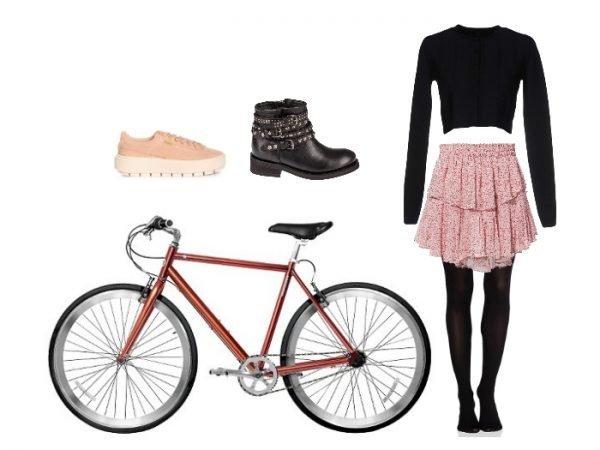 Outfit per andare in bicicletta in stile biker