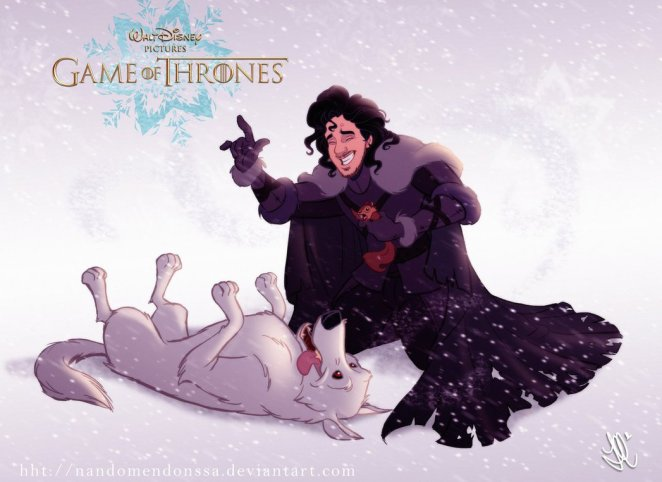 'Game of Thrones' Characters Drawn by Disney - Digital Art Mix