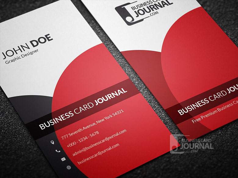 10 stylish free business and gift card templates classy elegant vertical business card template reheart Image collections