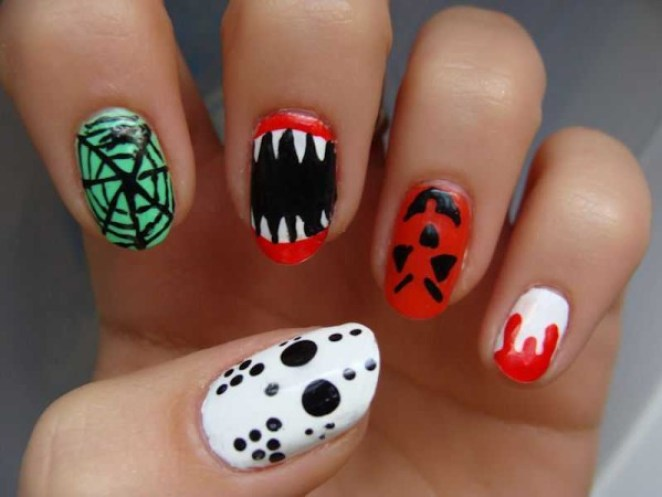 Halloween Inspired Makeup & Nail Art - Girly Design Blog