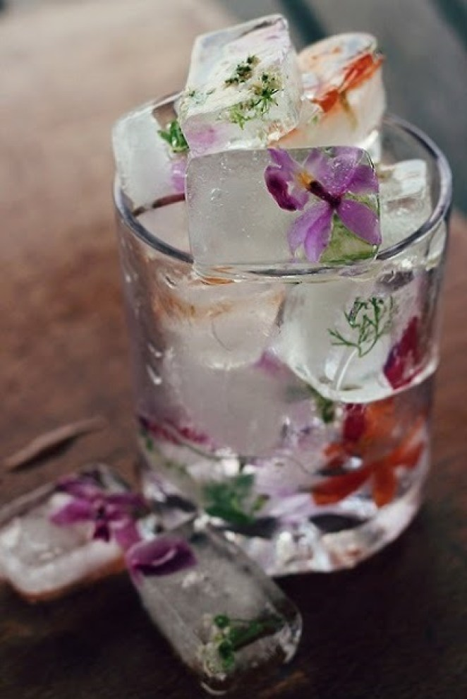 Colourful and Tasty Ice Cube Ideas - Girly Design Blog