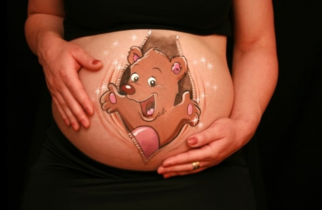 24 Beautiful Pregnant Belly Paintings - Girly Design Blog