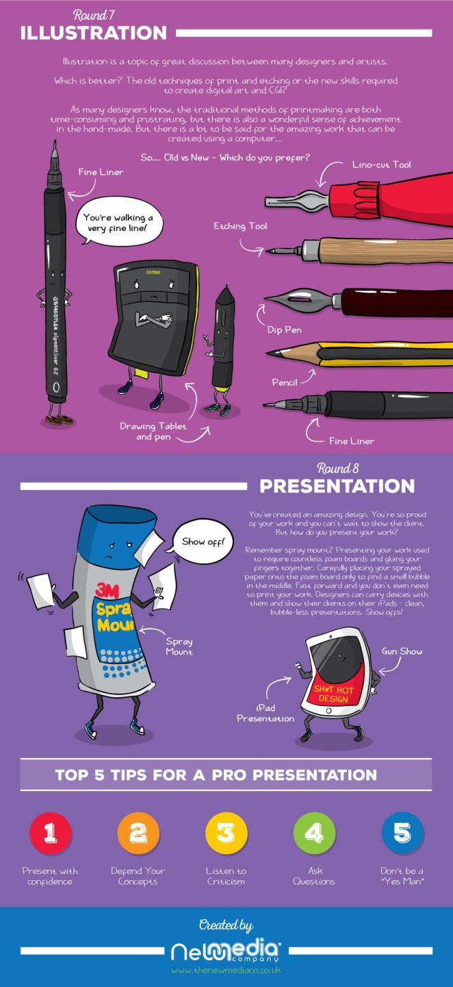 The Ultimate Battle: Old Vs New Graphic Design #Infographic Part 4 - Girly Design Blog