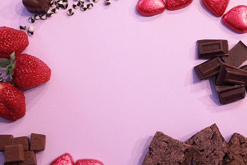 「チョコレート」「ハート」「食べ物」などがテーマのフリー写真画像