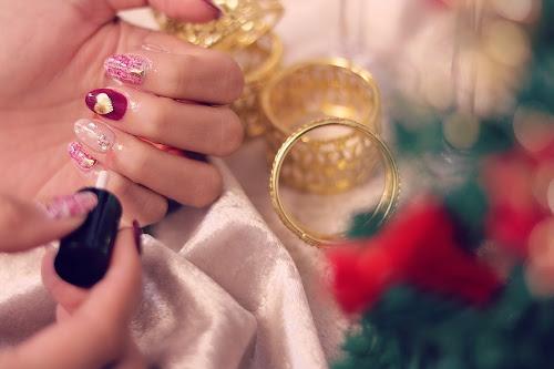 「クリスマスネイル」「ツイード」「ネイル」「ネイルデザイン」「ホログラム」などがテーマのフリー写真画像