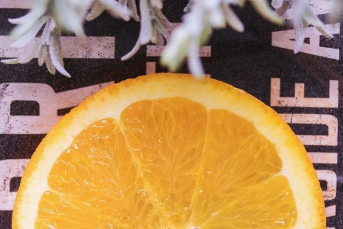 オシャレなスライスオレンジの上半分
