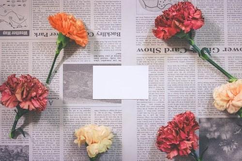 「お礼」「カーネーション」「俯瞰撮り」「文字入り」「春」「植物」「母の日」「真上から」「花」などがテーマのフリー写真画像