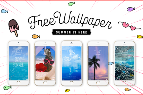 海!ビーチ!リゾート!おしゃれな夏のiphoneスマホ壁紙画像、ホーム&ロック画面まとめ[無料]