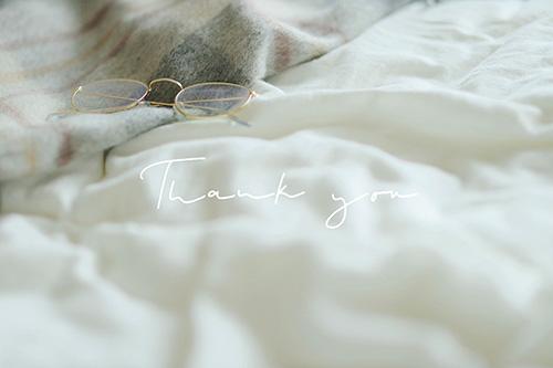 フリー写真素材:写真スタンプ:『Thank you』