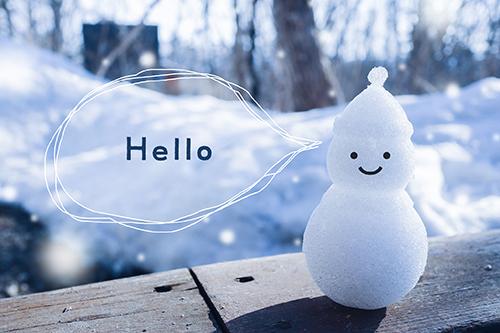 フリー写真素材:写真スタンプ:『Hello』