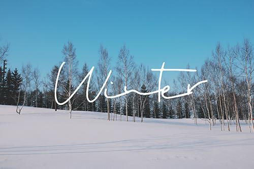 フリー写真素材:写真スタンプ:『Winter』