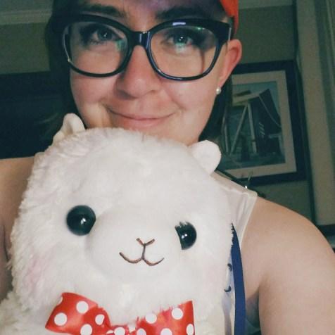My fluffy new alpaca friend, Alfred.