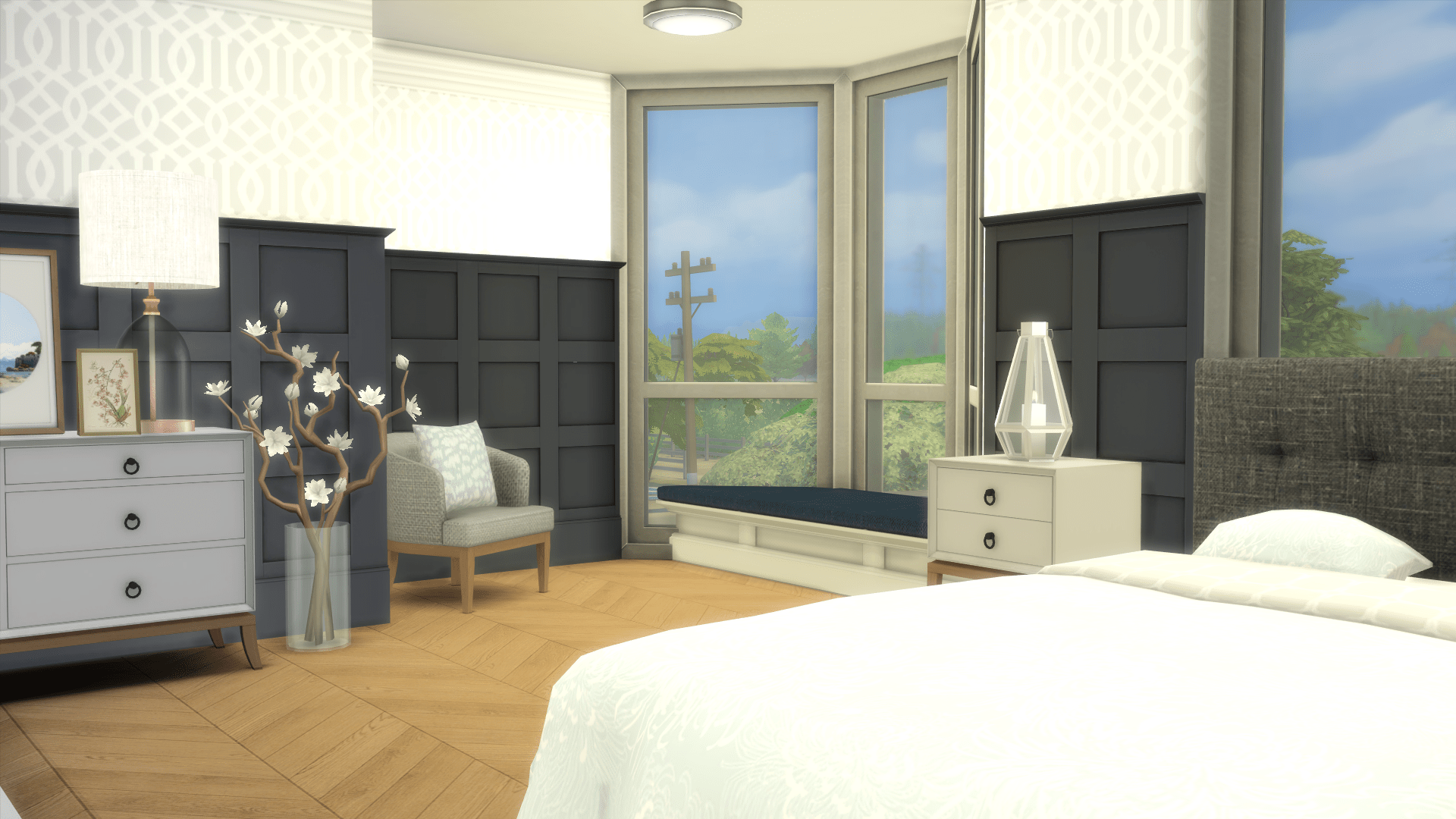 Country Chic Redesign-bedroom window after