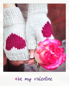 be my valentine figerless gloves knitting pattern