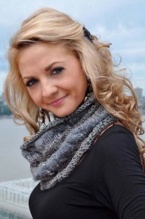 """""""Chic Cowl"""" Cabled Cowl Neck Scarf"""