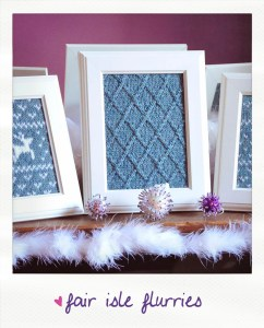 fair isle flurries knitted wall art knitting pattern