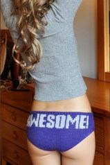 """Knitting is Awesome!"" Hipster Panties"