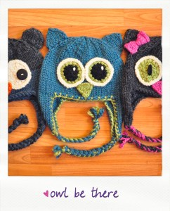 owl be there earflap animal hats knitting pattern
