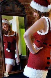 """""""Ms. Claus"""" Costume - Santa Dress, Hat, and Scarf"""