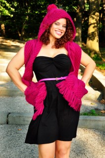 """""""Trifecta"""" Hooded Scarf with Pockets"""