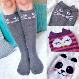 """""""Check Meowt!"""" Animal Knee High Socks"""